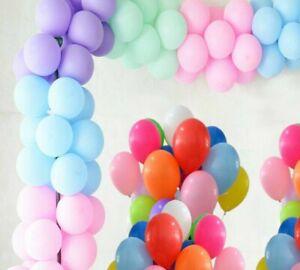 100pcs-of-5-Inch-Macron-Pastel-and-Plain-Latex-Balloons-Party-Decor-Small-Baloon