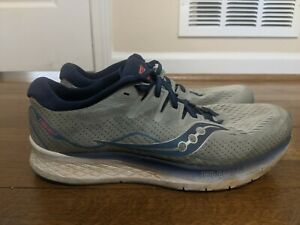 Saucony-Mens-Ride-ISO-2-S20514-1-Gray-Blue-Running-Shoes-Lace-Up-Size-13