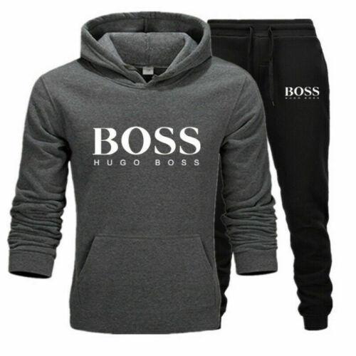 Herren Hoodies+Hosen set Gym Sportanzug Jogginganzug Fitness Trainingsanzug 2pcs
