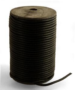 Lederband-rund-4mm-schwarz-1-50-2-50-m-Lederschnur-Lederriemen-Bueffelleder