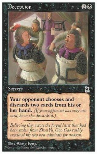 3X Deception * English MTG CARD P3K