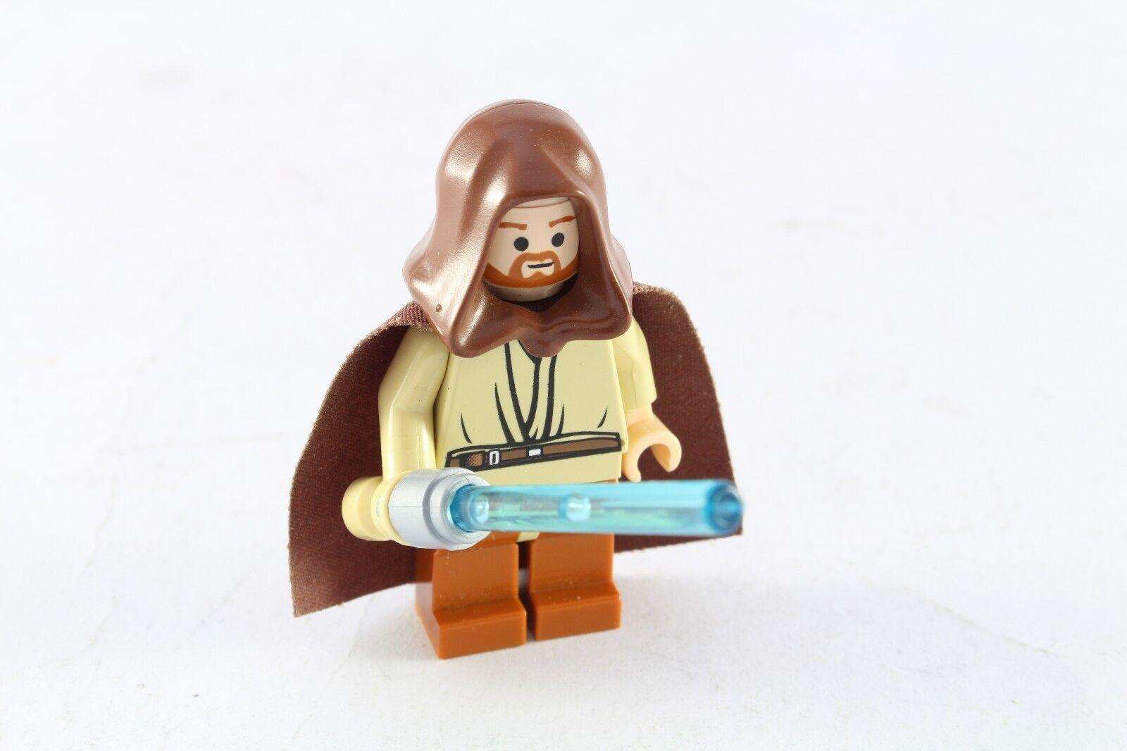 Lego Star Wars Wars Wars Obi Wan Kenobi Original Minifigure Light Up Lightsaber Working 631a33