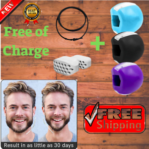 NEW 3PCS Jawzrsize Facial Mouth Jawrsize For Jew Muscle Exerciser Chew Ball Face