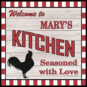 Details About Mary S Kitchen Welcome To Rooster Chic Wall Art Decor 12x12 Metal Sign Ss62