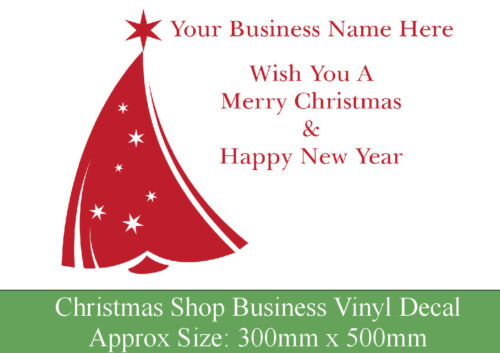 Business sticker company name Personalised Christmas vinyl window decal