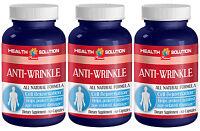 Pure Hyaluronic Acid - Anti Wrinkle Natural Formula - 3 Bottles, 180 Capsules