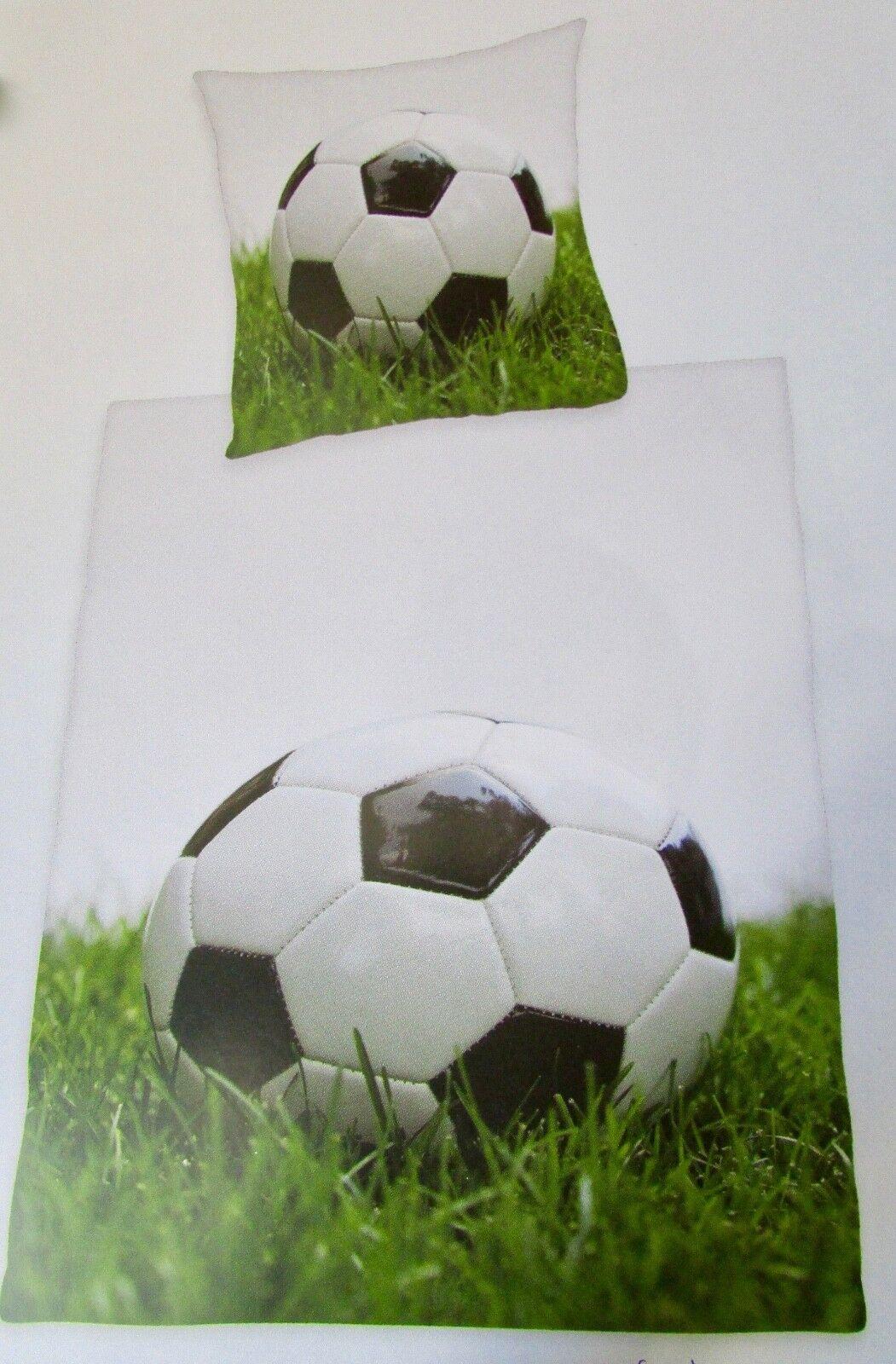 Bettwäsche Set  Fußball  Bettwäschegarnitur Bettbezug Kissenbezug 100% Baumwolle