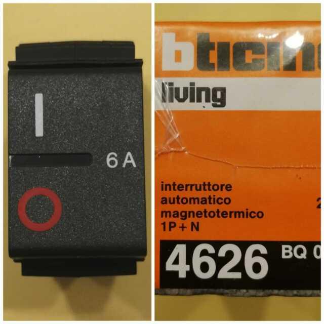 BTICINO LIVING CLASSIC INTERRUTTORE AUTOMATICO MAGNETOTERMICO BIPOLARE 10A 4630!