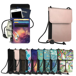Image Is Loading Neck Pouch Pu Leather Travel Passport Holder Id