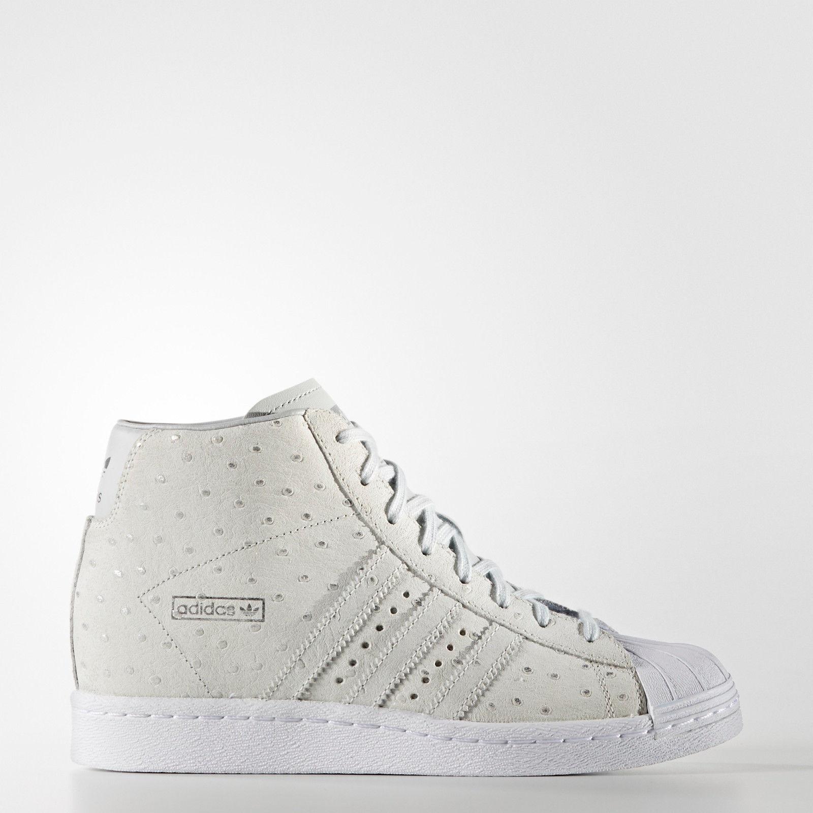 Adidas Originals Superstar Up Wedge S76406 Women's Gray Beige Rita Ora Rare