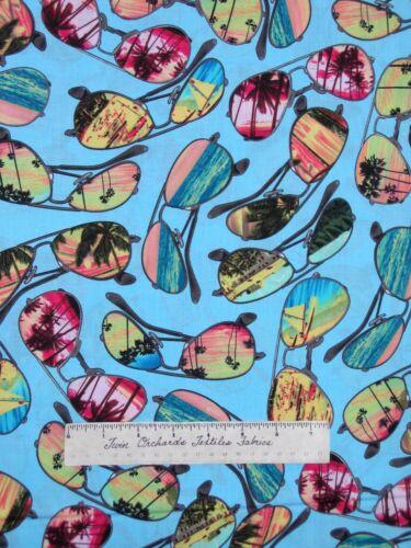 Ocean Ave Beach Sunglasses Aqua Benartex Kanvas Studio YARD Nautical Fabric