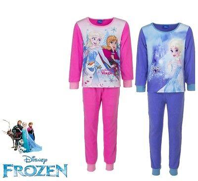 Attivo Pigiama Bambina In Pile Invernale Con Polsini Original Disney Princess Frozen Vendite Economiche 50%