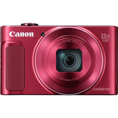 Canon PowerShot SX620 HS with 8gb Card & Case (RED) (SMP4)