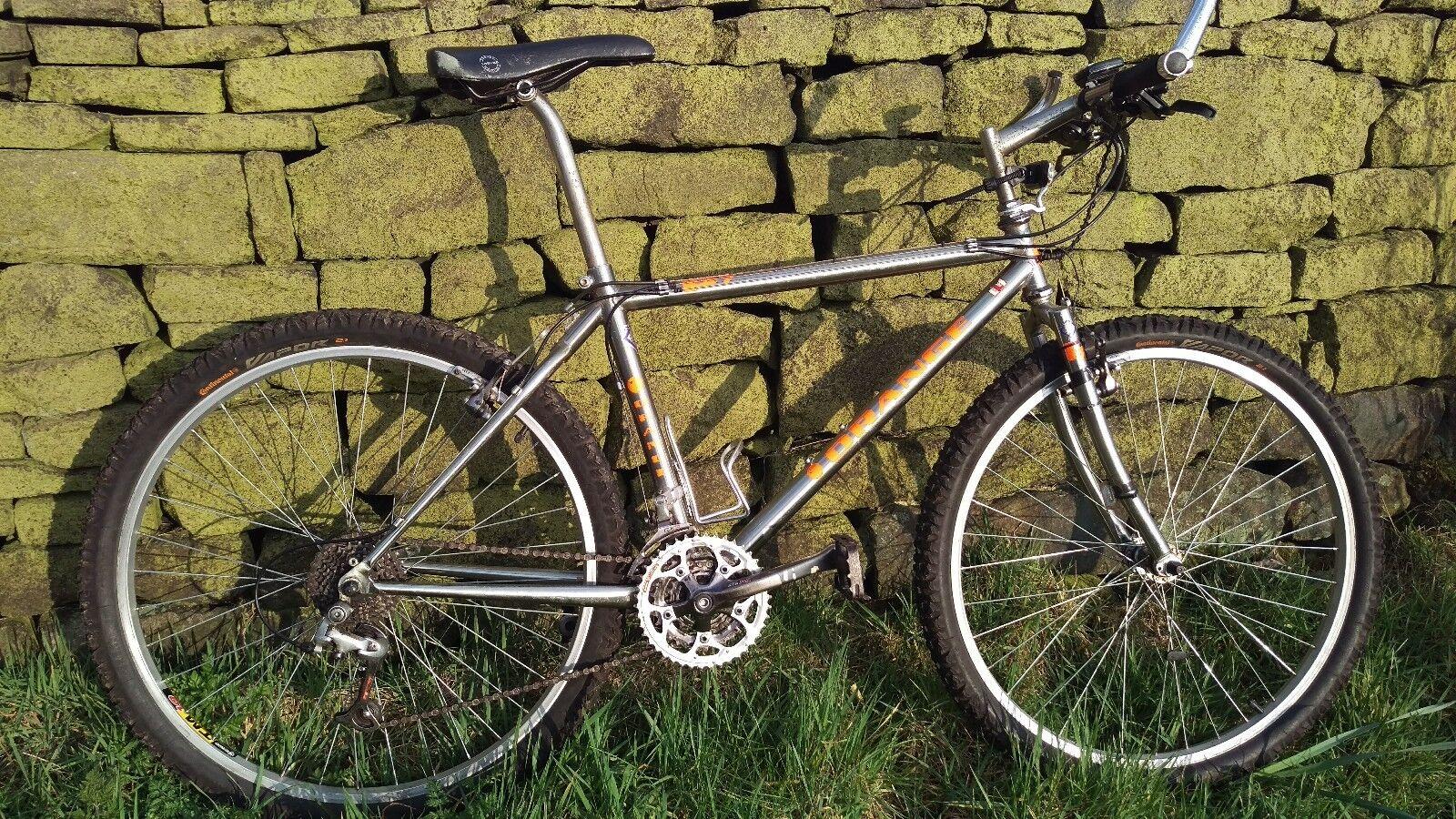 orange p7 Retro mountain bike 16  1996 97