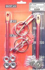 Chevy Red Hood Pins Latch Locking Kit Aluminum Pin Mount Bonnet Racing Rally