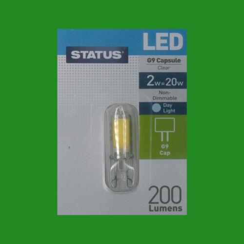Instant On Light Bulb Halogen Replacement 6500K 12x 2W G9 Capsule LED 200 lumen