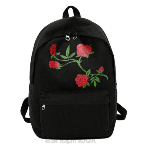 Womens Canvas School Bag Laptop Travel Backpack Large Capacity Shoulder Rucksack
