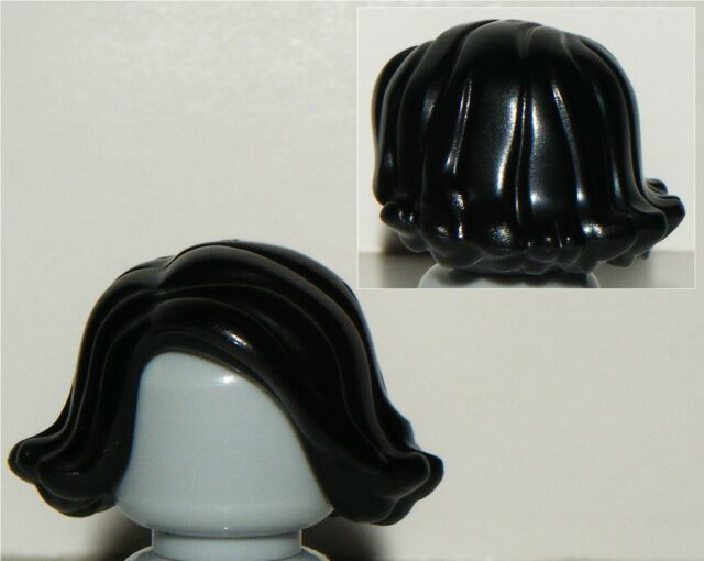 NEW LEGO FEMALE MINIFIGURE PARTED BLACK HAIR PART X1 WAVY CITY FRIENDS