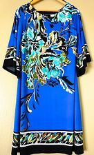 STYLISH EN FOCUS STUDIO BLUE FLORAL SEXY DRESS SIZE 8