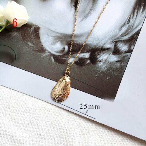 Boho Bohemian Sea Shell Alloy Pendant Chain Choker Necklace Women Beach Jewelry