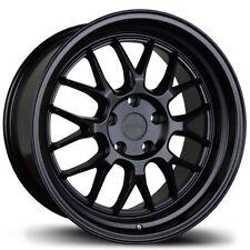 Avid1 AV34 Rims 18x8.5 +35 5x114.3 Black Prelude Civic Genesis IS300 Supra RX7