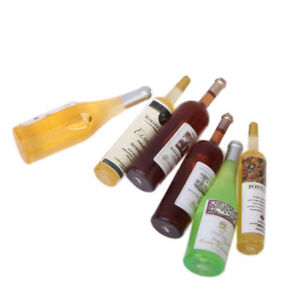 Set-of-6pcs-Multicolored-Wine-Bottles-for-Dollhouse-Miniature-1-12-Scale