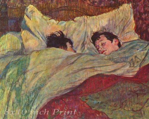 1 In Bed Man Woman Girl Boy  8x10 Print 1476 by Henri de Toulouse Lautrec