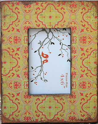 "Tuscan Style Wood  Photo Frame ( 6 "" x 4 "" ) BRAND NEW"