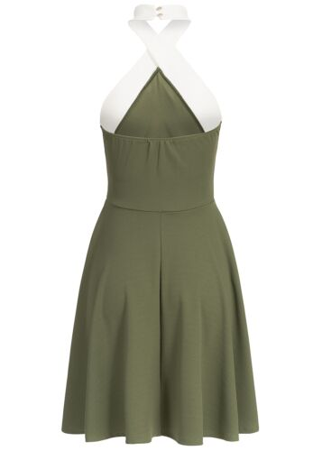 50/% OFF B17025177 Damen Violet Kleid kurz Neckholder Rückenteil Gummizug grün