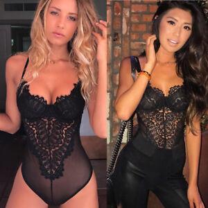 Women-Lingerie-Corset-Lace-Underwire-Racy-Muslin-Bodysuit-Temptation-Underwear