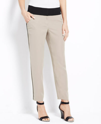 Woman/'s Iced Cappuccino Piped Drapey Slacks Pants $98.00 H Ann Taylor