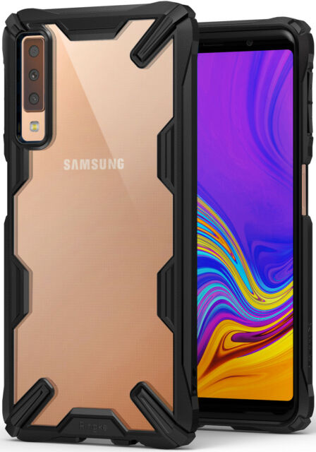 best sneakers 21a16 d3415 Ringke Fusion-x Black Designed for Galaxy A7 2018 Case Cover Clear Dot PC  Back