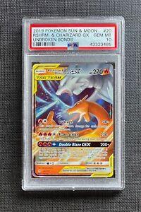 Pokemon-PSA-10-Reshiram-amp-Charizard-GX-SM-Unbroken-Bonds-20-214-Gem-Mint