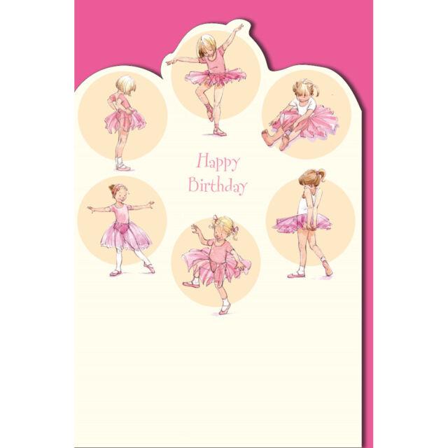Kiddie Korner Pink Ballerina Birthday Card Message Inside Lots Of