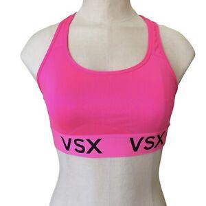 Victorias Secret VSX Womens Sports Bra Size Small RacerBack Pink Activewear