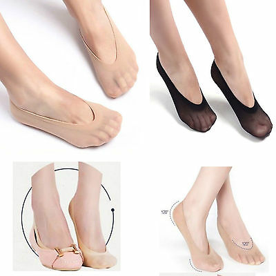 6 X LADIES SOCKS WOMEN GIRL/'S INVISIBLE TRAINER ANTI SLIP BALLERINA SOCKS UK 4-7