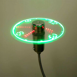 USB-Mini-Flexible-Time-LED-Clock-Fan-with-LED-Light-Gadgets-Cool-Fan-New-B-Gw