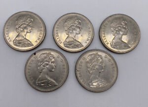 Lot of 5 - 1871-1971 BRITISH COLUMBIA CANADA DOLLAR 100 YEARS FOREIGN COIN