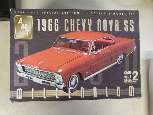 AMT ERTL 1966 Chevy Nova SS Millennium Ed. 1 25th Scale Plastic Model Kit  for sale online | eBay