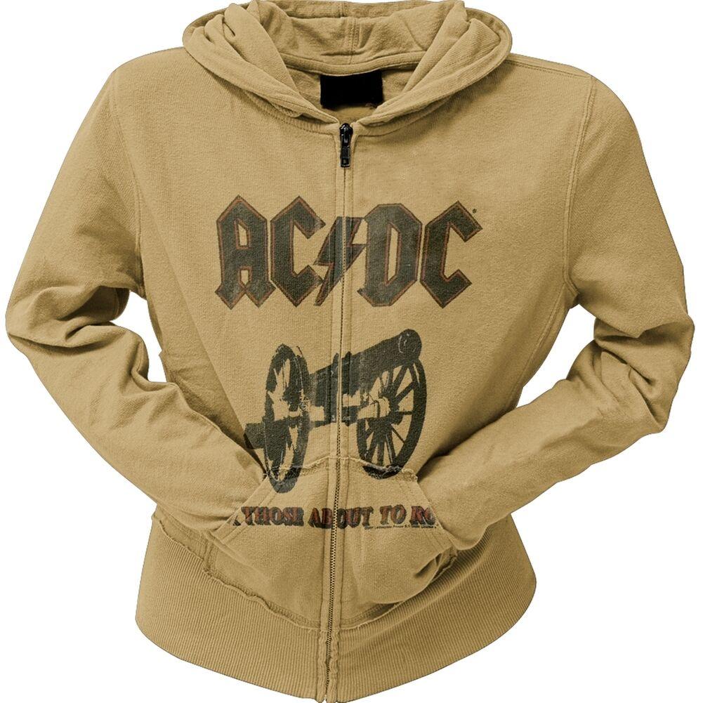 AC DC-About To Rock Juniors Zip Sweat à capuche