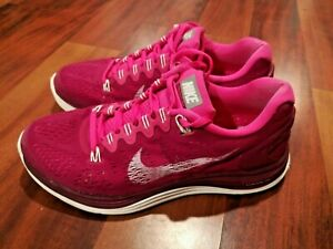 low cost f3ef7 74a3f Details about NIKE LunarGlide 5 Womens Athletic Running Training Shoes Pink  Ruby Red Size 7.5