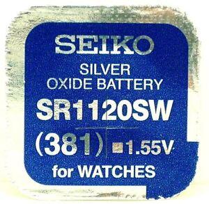 Seiko-381-SR1120SW-Argent-Oxyde-0-Hg-Mercure-Gratuit-Batterie-Montre