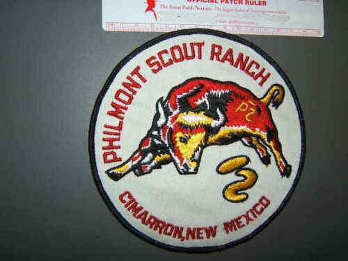 Boy Scout Philmont Bull Jacket Patch Cloth Back 1181Q