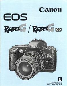 Canon EOS RebelG RebelG QD Instruction Manual