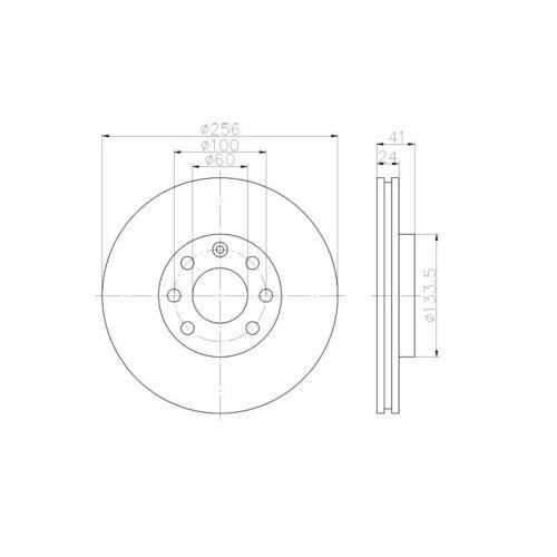 2 Textar Bremsscheiben 256mm vorne Daewoo Lotus Opel