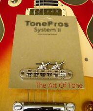 TonePros® T3BP-C Locking Tune-o-matic NASHVILLE Bridge - Chrome - NOTCHED