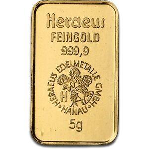 Lingot-or-5-grammes-or-pur-24-carats-999-9-1000-Heraeus-gold-bar-5-gr