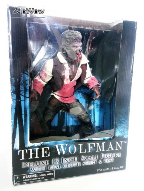"THE WOLFMAN 2009 Deluxe 12"" Action Figure Horror Monster Mezco Del Toro 2000s"