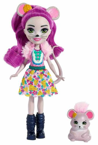 "Enchantimals Mayla Mouse /& Fondue Doll 6/"" New"