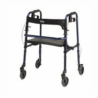 Invacare 65100 Rollite Rollator 4 Wheel Rolling Walker with Seat NEW